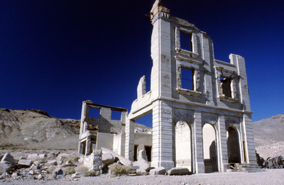 Photographic Images by David: Treasure-Hunting-Information.com Slide Show 1 &emdash; 71- Rhyolite, Nevada, Ghost Town, near the town of Beatty, Nevada, U.S.A!